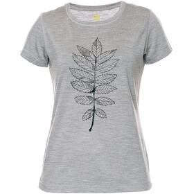 Röjk Stroller Merino Tee Women Grey Rowan Leaf